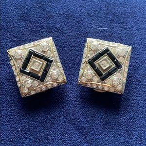 Swarovski Vintage Clip On Earrings